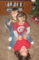 Wrestling with Keaton and Sis