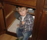 Hiding in the Tackett cupboard